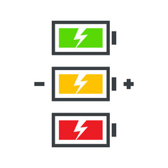 battery power icon set