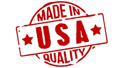 Red Rubber Stamp Made In USA