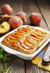 Pie with peaches
