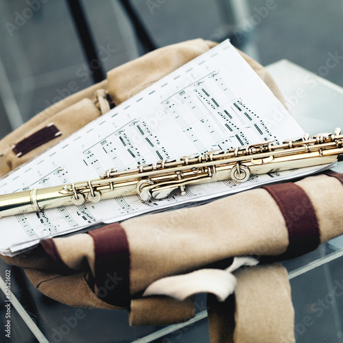 Flute with notes