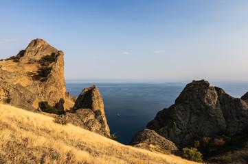 rock in Karadag National park near Koktebel
