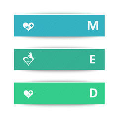 Medical banners for heart condition