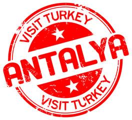visit antalya stamp
