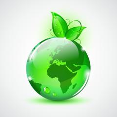 grüne erde glas