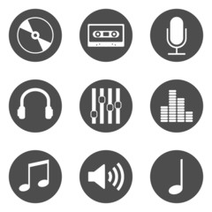 Musik Piktogramme