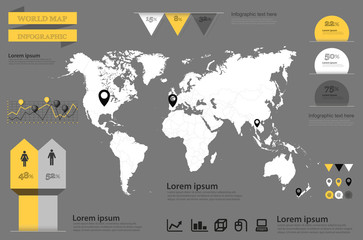 infographic vector. World Map and Information Graphics