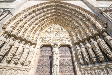 gate of Cathedral Notre Dame