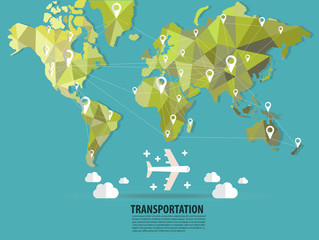 World transportation vector :flats