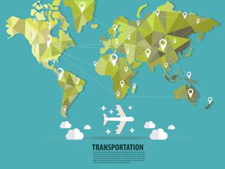 World transportation vector :flats