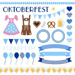 Octoberfest Symbols Set Edelweiss