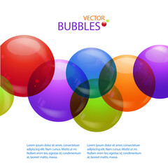 colourful bubble background