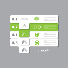 green ecology infographic vector signs