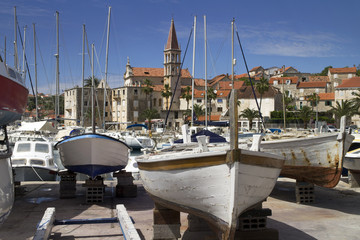 Milna, village on west side of island Brac in Croatia