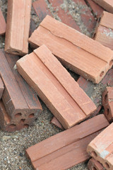 Fragments of bricks.