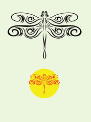 Dragonfly, art vector