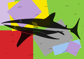 Requin multicolore