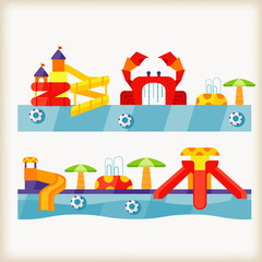 vector of waterpark