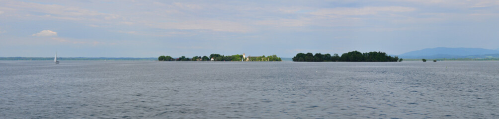 Fraueninsel Island on Lake Chiemse in Bavaria, Germany