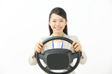 運転・ビジネスウーマン