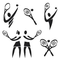 Tennis icons.