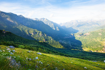 mountain valley in Pyrenees