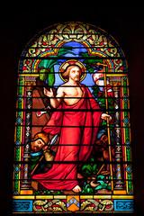 Vitrail : la résurrection du Christ