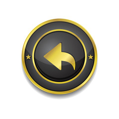 Reset Replay Circular Vector Golden Black Web Icon Button