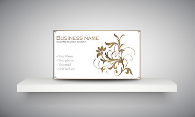 Carte & logo ornement floral