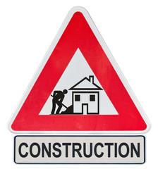 panneau travaux chantier construction maison