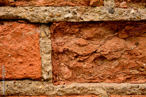 canvas print picture Decaying brick wall