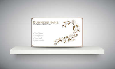 "Carte & logo ornement floral ""3"""