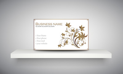 "Carte & logo ornement floral ""4"""