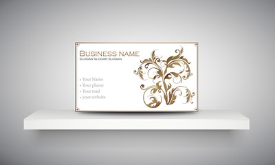 "Carte & logo ornement floral ""7"""