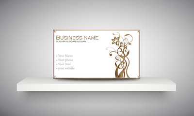 "Carte & logo ornement floral ""8"""