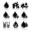 Blood donation, medical vector icons set