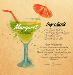 Margaret cocktails watercolor kraft