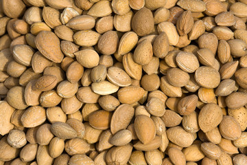 Almond closeup background