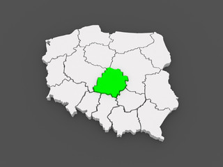Map of Lodz. Poland.