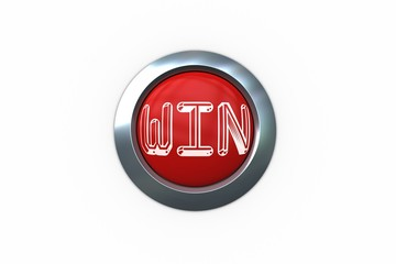 Win on digitally generated red push button