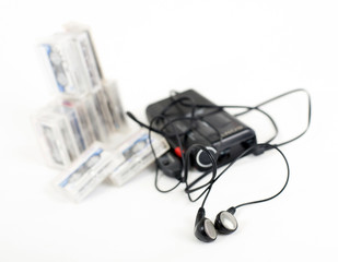 Analog dictaphone  isolated on a white
