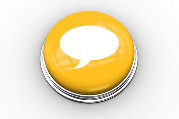 Composite image of speech bubble graphic on button