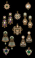 collection of earring & pandant jewellery