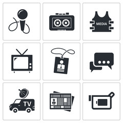 Media icon collection