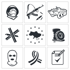 Opposition icon collection