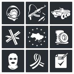 Opposition icon set