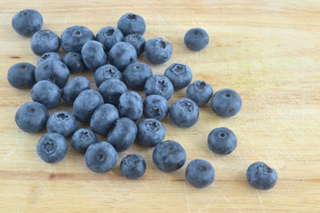 fresh crop of blueberries