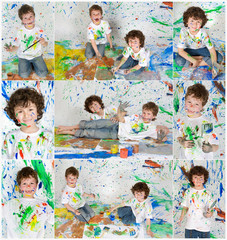 Photo Sequence of a fun painting session