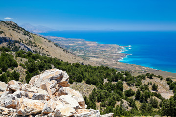 view of the south coast of Crete