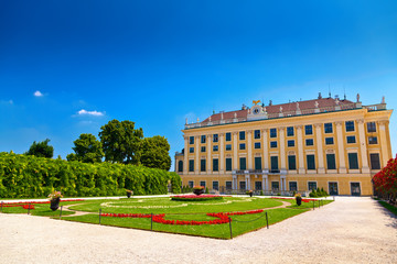 one of the sides of Schönbrunn palace