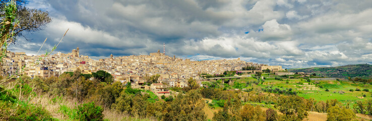 panorama view of Caltagirone, Sicily